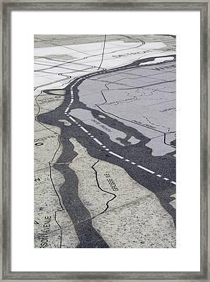 Grosse Isle Map Framed Print by Gary Marx