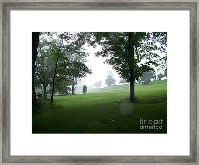 Grossinger Golf Course Rainy Day  Framed Print by Kevin Croitz