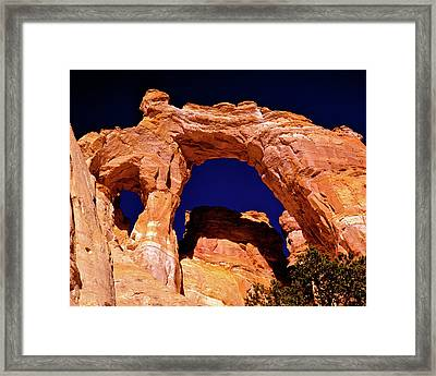 Grosvenor Arch Sunset Kodachrome Basin Framed Print