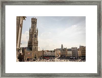 Grote Markt Brugge Framed Print