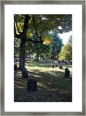 Groton Cemetery 1 Framed Print by Mary Bedy