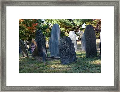 Groton Cemetery 3 Framed Print by Mary Bedy
