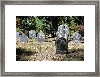 Groton Cemetery 5 Framed Print by Mary Bedy