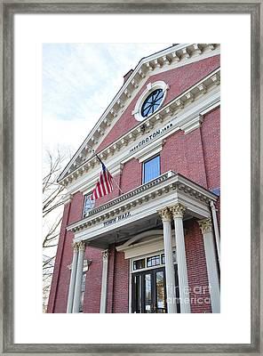 Groton Ma Town Hall Framed Print