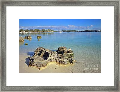 Grotto Bay Beach Framed Print