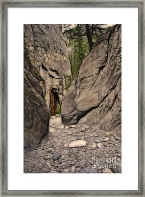 Grotto Canyon Fractal Framed Print
