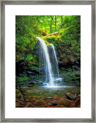 Grotto Falls Framed Print by Carolyn Derstine