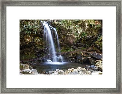 Grotto Falls II Framed Print