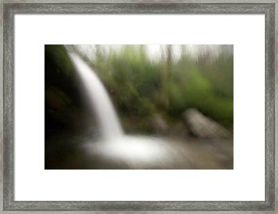 Grotto Falls On The Trillium Gap Trail Framed Print by Phil Schermeister