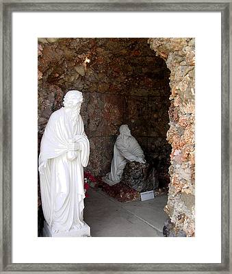 Grotto Of Redemption - Gesthemane Framed Print by Dusty Reed