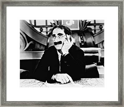 Groucho Marx Framed Print by Silver Screen