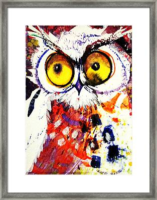 Groucho Owl Framed Print
