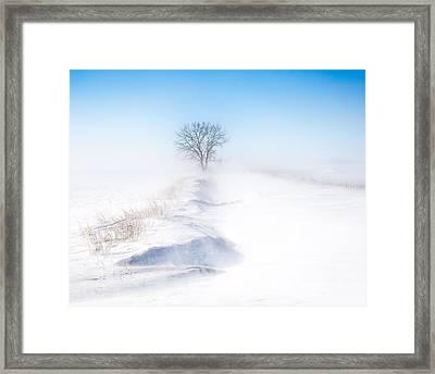 Ground Blizzard Framed Print