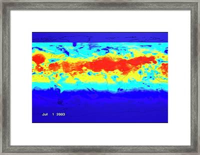 Ground Level Uv Exposure Framed Print