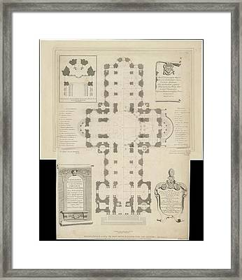 Ground Plan Of St. Paul's Catherdral Framed Print by British Library