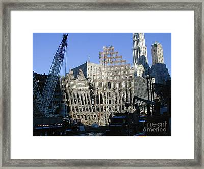 Framed Print featuring the photograph Ground Zero-2 by Steven Spak
