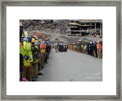 Ground Zero-3 Framed Print by Steven Spak
