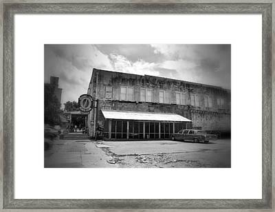 Ground Zero Black And White Framed Print