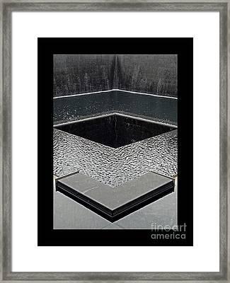 Ground Zero 9-11 Memorial Framed Print by Joseph J Stevens