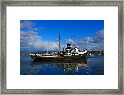 Grounded At The End Of The World Framed Print by FireFlux Studios