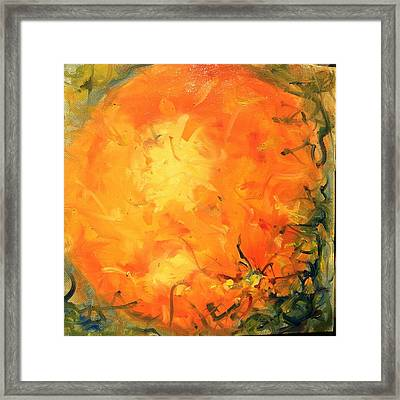 Grounded Orange Framed Print