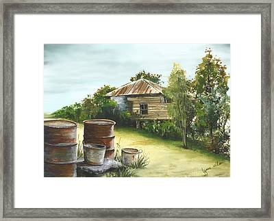 Groundwater Residence Of Days Gone By Framed Print by Lynne Wilson