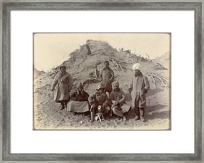 Group At Ulugh-mazar Framed Print