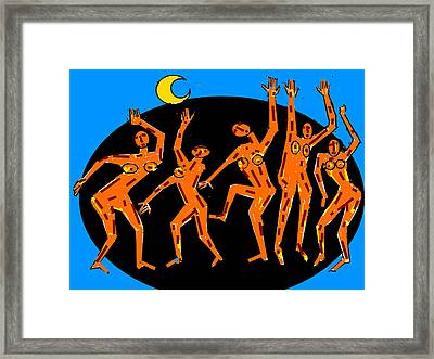 Group Dancers Framed Print