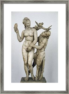 Group Of Aphrodite And Pan. Ca.  100 Framed Print