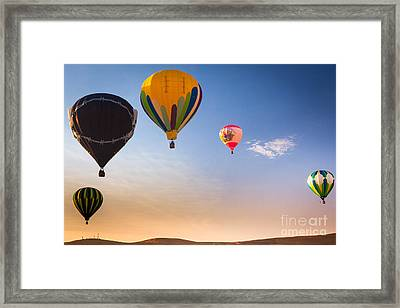 Group Of Balloons Framed Print by Inge Johnsson