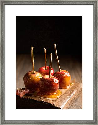 Group Of Candy Apples Framed Print by Amanda Elwell