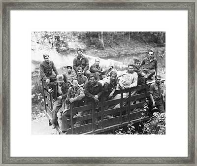 Group Of Civilian Conservation Corps Framed Print by Stocktrek Images