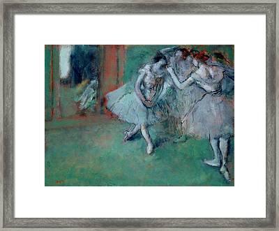 Group Of Dancers Framed Print by Edgar Degas
