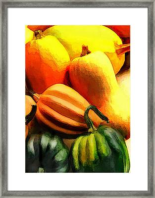 Group Of Gourds Framed Print