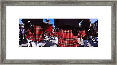 Group Of Men Playing Drums In The Framed Print by Panoramic Images