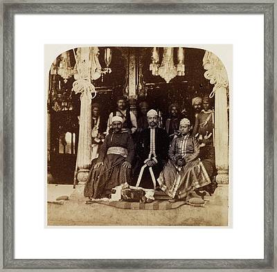 Group Of Nobles Of Hyderabad Framed Print by British Library