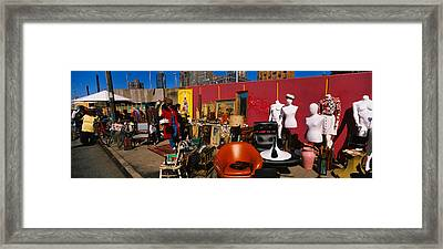 Group Of People In A Flea Market, Hells Framed Print