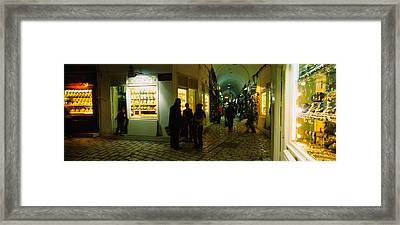 Group Of People In A Market, Medina Framed Print by Panoramic Images