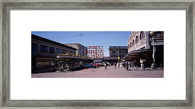 Group Of People In A Market, Pike Place Framed Print by Panoramic Images