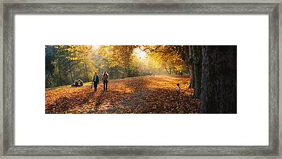 Group Of People In A Park, Tuebingen Framed Print by Panoramic Images