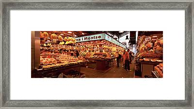 Group Of People In A Vegetable Market Framed Print by Panoramic Images