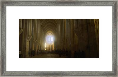 Group Of People In The Hallway Framed Print by Panoramic Images