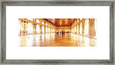 Group Of People Inside A Ballroom Framed Print by Panoramic Images
