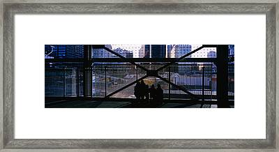 Group Of People Looking At A Memorial Framed Print by Panoramic Images