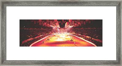 Group Of People Performing With Horses Framed Print by Panoramic Images