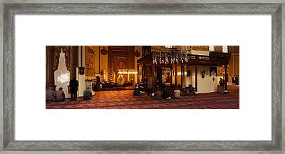 Group Of People Praying In A Mosque Framed Print by Panoramic Images