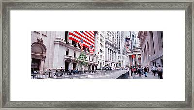 Group Of People Walking In A Street Framed Print