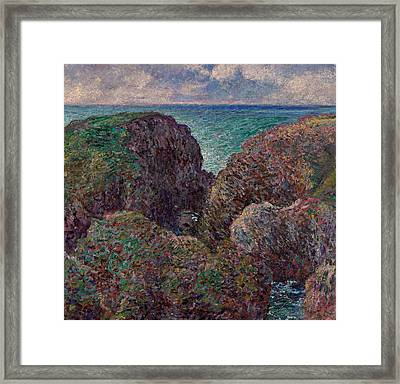 Group Of Rocks At Port Goulphar Framed Print