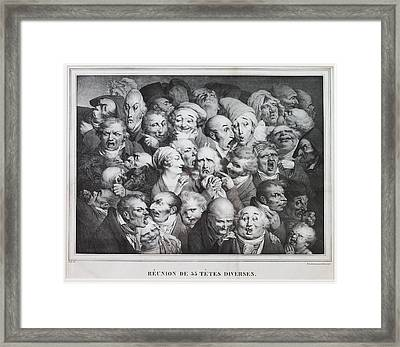 Group Of Thirty-five Heads Framed Print
