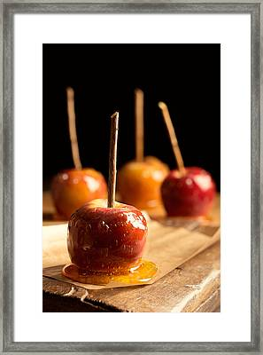 Group Of Toffee Apples Framed Print by Amanda Elwell